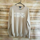 Peter Millar Collection Mens Beige Crew Sweater Made England NWOT L or XXL Wool