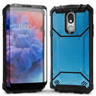 LG Stylo 5 Magnetic Metal Phone Case with Glass Screen Protector