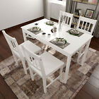 4 Seater Dining Table Set Garden Furniture Set Solid Wooden Colours Home Outdoor