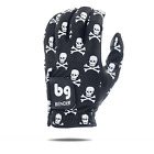 Black Crossbones Mesh Golf Glove