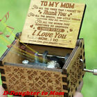 FixedPricewooden music box mom/dad to daughter -you are my sunshine engraved toy kid gift