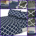 Bed Sheet Set Pillow Case Fitted Sheets Ultra Soft Brushed Microfiber 3 Pieces image