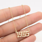 Birth Year Date Necklace Birthday Gift Pendant Number Jewelry