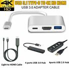 USB 3.1 Type C to USB-C 4K HDMI Lightning to HDMI Cable USB 3.0 Hub Adapter UK1