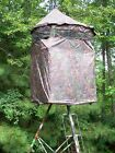 Tree Stand Blind With Roof Bow Master or Gun Blind Mossy Oak:Tree,Tripod,Ground