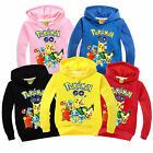 Pokemon Go Kids Boys Girls Pikachu Hoodies Long Sleeve Pullover Sweatshirt Tops