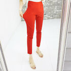 K-Fashion Women Elastic Waist Pants Summer Long Trousers Plus Size Slim Skinny