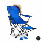 Collapsible Camping Chair with Footrest, Drink Holder, Fishing Seat, 120 kg