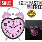 Super Loud Alarm Clock For Heavy Sleepers Cute No Ticking Twin Bell for Girls