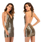 Sexy Short Bodycon Clubwear Party Dress Halter Mini Cocktail Evening Gowns