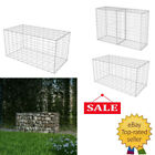 Gabion Basket Wall Garden wire cage fench galvanized steel Garden Patio Silver