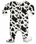Leveret Baby Boys Cow Black Fleece Footed Sleeper Pajama Size 6M-5T