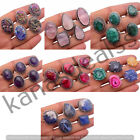 Rose Quartz, Amethyst, Druzy & More 925 Sterling Silver Plated Handmade Rings