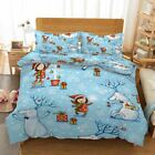 Snowman Happy Gift 3D Printing Duvet Quilt Doona Covers Pillow Case Bedding Sets