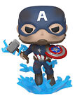 Funko Pop! Avengers Endgame Captain America with Broken Shield and Mjolnir