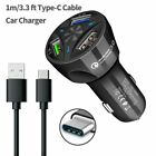 Original Fast Car Charger Type-C Cable For Samsung Galaxy S8 S9 S10 Plus Note 8