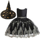 Halloween Children Kids Girls Star Tutu Dress Cosplay Costume Witch Dresses ZG9