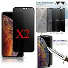 2X Anti-Spy Privacy Glass Screen Protector For iPhone 11 Pro XS Max XR X 8 Plus $11.45 USD on eBay