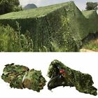 Woodland Jungle Camouflage Net Ghillie Suit Hat Handmade Knitting for Hunting