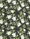 SCALAMANDRE PEONIA LINEN PRINT MULTIPURPOSE PRINT FABRIC 5 YARDS  MULTI BLACK