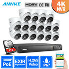ANNKE 8MP 4CH 8CH 16CH 4K CCTV NVR 2MP Video POE Security Camera System Outdoor
