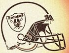 OAKLAND RAIDERS HELMET STENCIL MYLAR SPORT FOOTBALL MANCAVE STENCILS $7.18 USD on eBay
