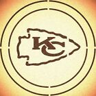 DOUBLE CIRLCE KANSAS CITY CHIEFS STENCIL SPORT FOOTBALL STENCILS $13.07 USD on eBay
