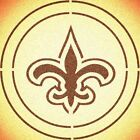 DOUBLE CIRLCE NEW ORLEANS SAINTS STENCIL SPORT FOOTBALL STENCILS $15.97 USD on eBay