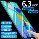 6.3 P36 Pro Android 9.1 Smart Mobile Phone 6gb+128gb Face Id Unlocked 4800mahuk