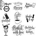 Wall Art Stickers For Kitchen, Removable Home Decor, Quality Vinyl Decal Quotes