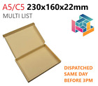Brown Royal Mail PIP Large Letter Postal Boxes C5 230x160X22mm MULTI LIST