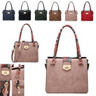 Ladies Faux Leather Multi Compartment Handbag Snakeskin Shoulder Bag Tote MW6073
