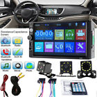 2DIN Car Multimedia FM Radio DVD CD MP5 Player Bluetooth Stereo Radio Player 7''