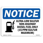 OSHA Notice - Ultra-Low Sulfur Non-Highway Sign With Symbol | Heavy Duty