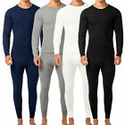 Men's 2pc Premium Cotton Waffle Knit Thermal Underwear Stretch Top  Bottom Set