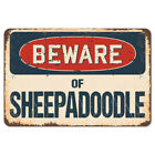 Beware Of Sheepadoodle Rustic Sign SignMission Classic Plaque Decoration