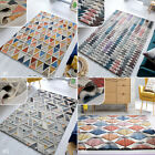 MEDIUM - EXTRA LARGE VIBRANT 100% WOOL THICK HAND CARVED GEOMETRIC MODA RUGS