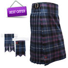 Scottish Pride of Scotland Men's 5 Yard Tartan Kilt With Flashes Premium Quality