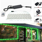 US 10FT 160FT 5054 SMD 6 led Module Lights Fairy Strip Green Lamp +Remote +Power