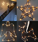 Christmas+Battery+Star+Reindeer+Angel+Silhouette+Light+Warm+White+LED+Metal+Wire