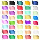 Silk Satin Pillowcase 2 Pack Silky Pillow Cases For Hair And Skin Cushion Cover image