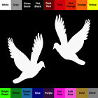 Dove Decal - 2 Pack - Color Vinyl Silhouette Bird Stickers