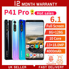 """6.1"""" Inch P41 Pro 9.0 Android Face Id Unlocked Mobile Phones Dual Sim Smartphone"""
