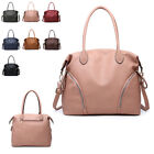 Ladies Fx Leather Front Zip Slouch Shoulder Bag Hobo Work Travel Handbag MA36542