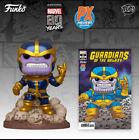 Funko Pop! Marvel Thanos Snap 6-Inch PX Exclusive Metallic with Comic