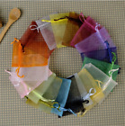 50-100pcs Mixed Colour Organza Gift Wedding Party Xmas Jewellery Candy Pouches U