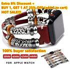For Apple Watch Series 5 4 3 2 1 Retro Leather Band Strap iWatch 38/42/40/44mm image
