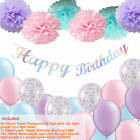 Happy Birthday Party Decorations Banner Bunting Balloons 1st 2nd 16th 18th 21st