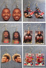 Houston Texans Lamar Miller , Tyrann Mathieu , Jadeveon Clowney EARRINGS $9.0 USD on eBay