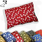 Medium Large & Extra Large Dog Bed Filled Pillow Complete Washable Cushion + Zip